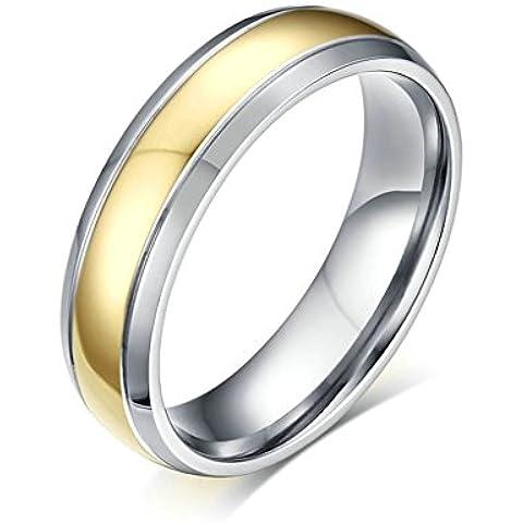 Alimab gioielli anelli donne inox acciaio Banda nozze pianura - Università Delle Donne Orologio Del Cuore