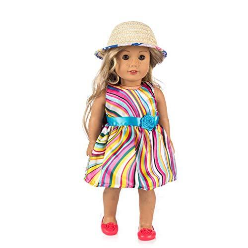 Zolimx Puppe-Hut für 18-Zoll Amerikanische Puppe Zubehör Mädchen Spielzeug