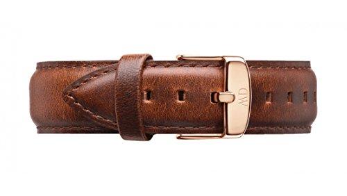 Daniel Wellington Herren Uhren-Armband Classic St. Mawes Leder braun Schliesse roségold DW00200006