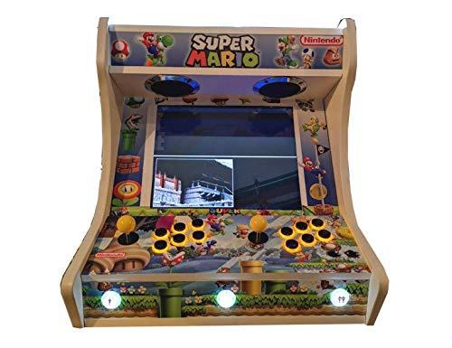 Roboticaencasa Arcade BARTOP VIDEOCONSOLA Retro máquina recreativa -Tamaño Real- Diseño- Super Mario Bros