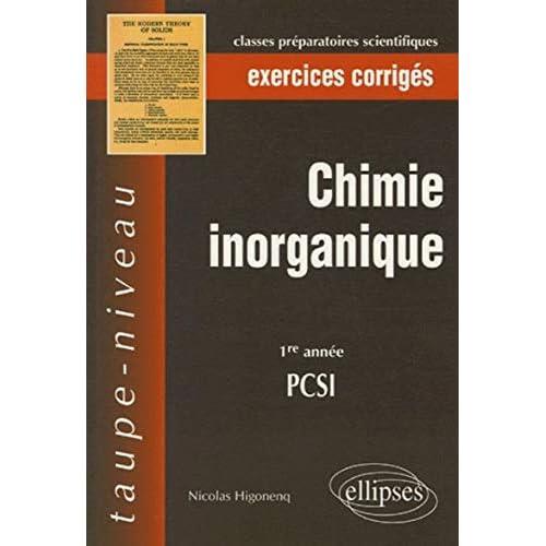 Chimie inorganique : PCSI 1e année, exercices corrigés