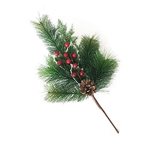 Healifty 2pcs kleine künstliche Pine-Picks für Weihnachten Blumenarrangements Kränze und Urlaub Dekorationen