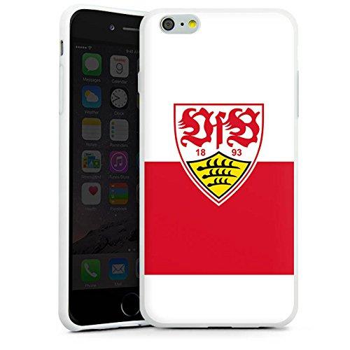Apple iPhone 8 Hülle Case Handyhülle VfB Stuttgart Fanartikel Fußball Silikon Case weiß