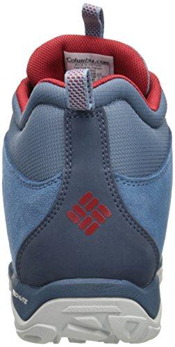 Columbia Fire Venture Mid Textile, Chaussures Multisport Outdoor Femme Bleu (Steel, Rocket 413)