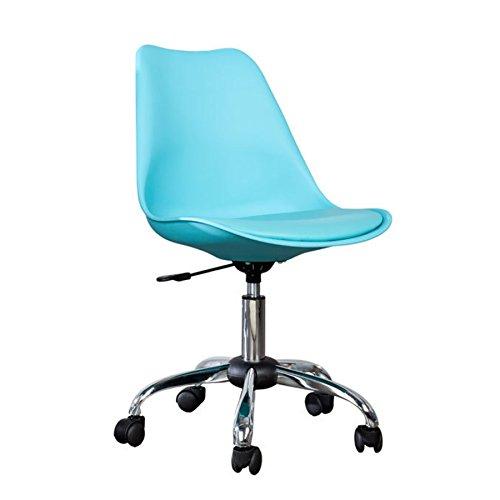 Invicta Interior Retro Designklassiker Bürostuhl Scandinavia MEISTERSTÜCK Türkis Stuhl mit drehbarem Kreuzgestell aus Chrom