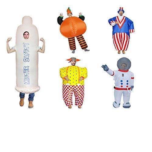 BWNWPH Halloween Inflatable Clothing Erwachsener Clown, Sam, Kürbismann, Raumfahrer, Zahnpasta Inflatable Clothing (Color : Orange) (Zahnpasta Für Erwachsene Kostüm)