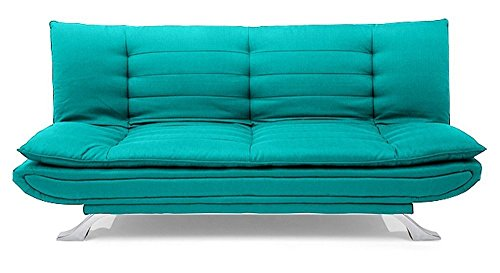 FabHomeDecor Three Seater Sofa Cum Bed (AquaBlue)