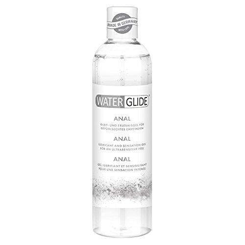 Lubricante Waterglide Anal, sexo anal y juguetes, deslizamiento largo, 300ml