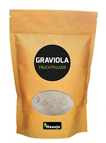 Hanoju Graviola (Guanábana) Fruchtpulver 250 g - Nahrungsergänzungsmittel auch in Müsli und Joghurt zu verwenden (Kapseln Graviola 100)