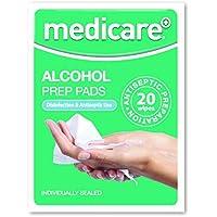 Medicare Alkohol Preparation Einlagen 20 Einzeln Verpackt Päckchen preisvergleich bei billige-tabletten.eu