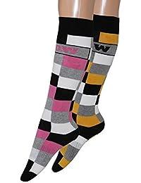 2 pares de calcetines Trekking Calcetines Calcetines de esquí térmica vollfrottee Suela de felpa en diferentes
