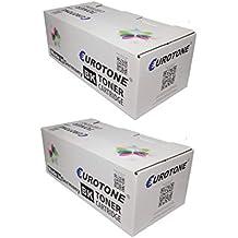 2x Eurotone Toner para Ricoh Aficio SP 4100 4110 4210 4310 sf dn n sustituye 402810 TYPE220A TYPE220 Negro Set