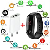 VEBREL Advanced Upgraded Waterproof M 3rd Generation Smart Activity Fitness Live Heart Rate Steps/Calorie Counter Blood Pressure Monitor Health Tracker Watch/Band with Touch Sensor OLED Screen with Charger
