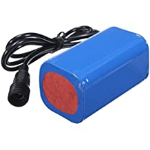 Tongshi 8.4V 6400mAh recargable 4 x 18650 batería Pack para lámpara luz bicicleta bici