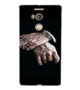 PrintVisa Man Hands Design 3D Hard Polycarbonate Designer Back Case Cover for Gionee E8