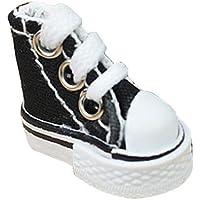Niumen, mini scarpa da skateboard realizzata a mano, con ciondolo a forma di scarpa da skateboard per dita, Nero , 3,5…
