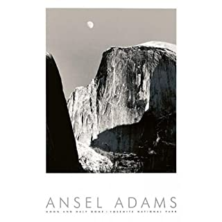 Moon And Half Dome Poster Print by Ansel Adams (24 x 36)