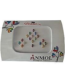 Anmol Virasat Plain Attractive Multicoloured Oval Bindi