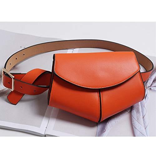 Woodrow Whyet Mode Serpentine Gürteltasche Damen PU Leder Gürteltasche Damen Mini Disco Gürteltasche Handtaschen Damen Tasche Designer Brusttasche (Color : Orange)