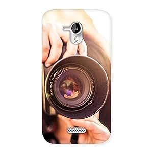 Gorgeous Premier Camera Multicolor Back Case Cover for Micromax Canvas HD A116
