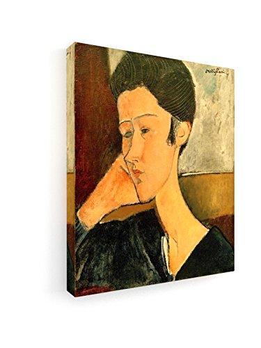 Amadeo Modigliani - Hanka Zborowska - 50x60 cm - Premium Leinwandbild auf Keilrahmen - Wand-Bild - Kunst, Gemälde, Foto, Bild auf Leinwand - Alte ()