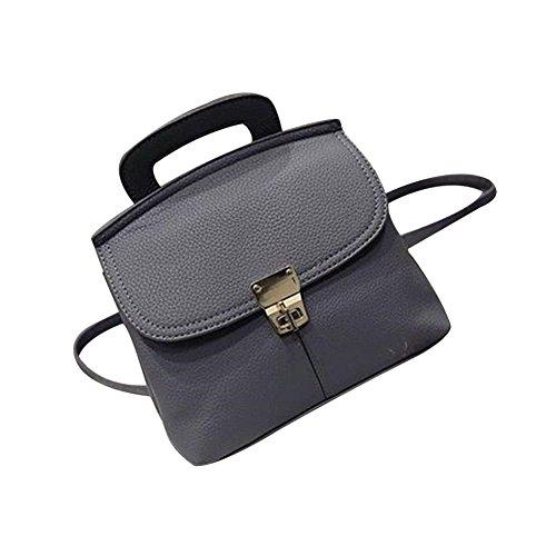 tellw Damen Freizeit Travel Shopping Mini Rucksack Tasche Grau - grau