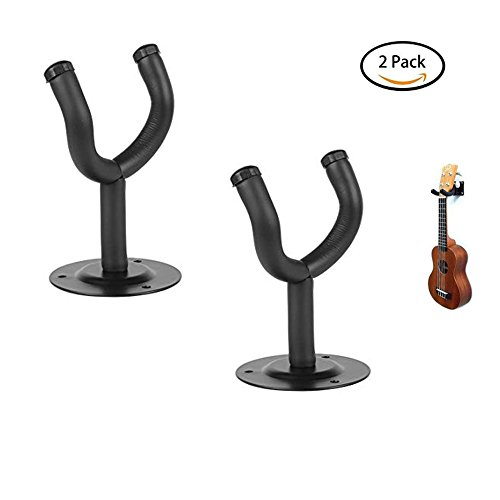 2PCS Gitarre Kleiderbügel Wandhalterung Haken Halter Display Halterung für alle Größe Akustik ELEC