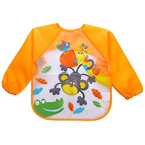 SITIAN Schürze wasserdichte Volle Hülsen-Schellfisch-Kinderschürze-Lange Hülsen-Einziehende Kittel-Schellfisch-Kinder, Die Brustplatte-Kind-Baby-Kleidung Essen - Kind-kittel Einweg