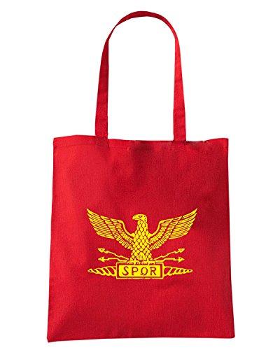 T-Shirtshock - Borsa Shopping OLDENG00749 distressed roman eagle Rosso
