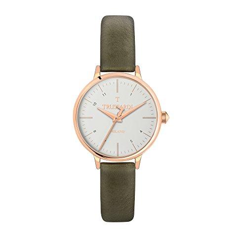 TRUSSARDI Reloj Analógico para Mujer de Cuarzo con Correa en Cuero R2451126502