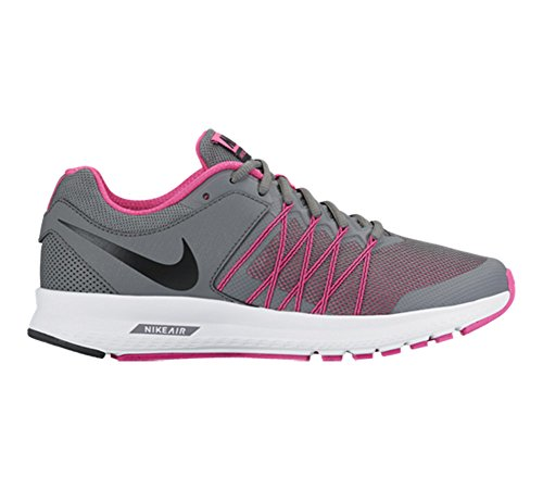 Nike Wmns Air Relentless 6, Chaussures de Running Entrainement Fille Cool Grey/Black-Pink Blast-White