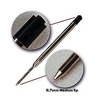 CSbrands Ballpoint Pen Refills for Parker Pens and Tactical Pen, Medium Point, Metal Refill -Black Ink, G2 Ballpoint Pens 0.7mm - Pack of 24