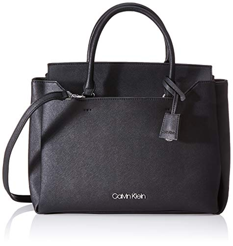 Calvin Klein Damen Worked Tote, Schwarz (Black), 14x26x37 Centimeters