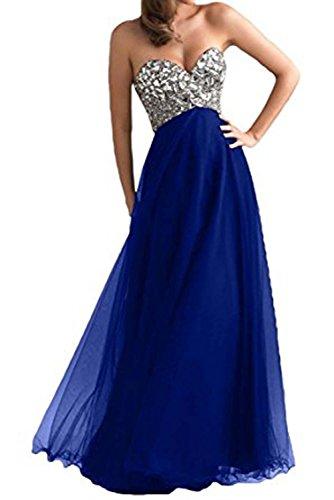 Vickyben -  Vestito  - linea ad a - Senza maniche  - Donna Royal Blue