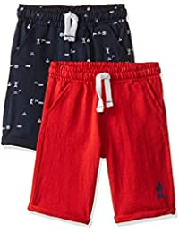 Mothercare Boys' Regular Fit Cotton Shorts (Pack of 2)