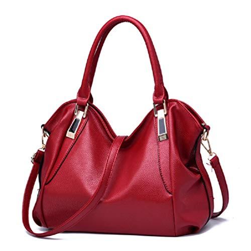 YTXY Women ' S Bag New European and American Fashion Handtasche Large Capacity Big Bag Shoulder Messenger Bag,Red