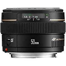 Canon EF 50mm f/1.4 USM SLR Negro - Objetivo (SLR, 7/6, 1:1.4, 0,45 m, Canon EF, 46°)