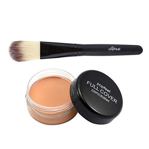 B Baosity Paleta de Resaltado de Ojos Corrector a Prueba de Agua Pincel Aplicador de Polvo de Maquillaje - C