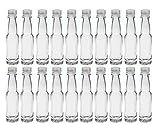 40 leere Mini Glasflaschen