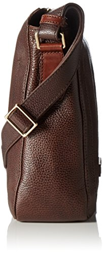 The Bridge Plume Mix Uomo Sac bandoulière cuir 26 cm marrone