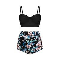 AidShunn Women High Waist Bikini Set Halter Swimming Costume Beach Bathing Swimwear L