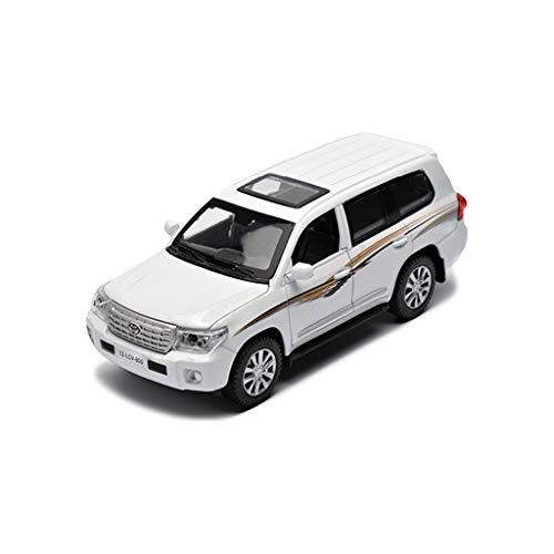RENJUN Auto Modell Auto 1:24 Toyota Land Cruiser SUV Simulation Legierung druckguss Spielzeug Ornamente Sportwagen Sammlung schmuck 20x8x7 cm (Color : White)
