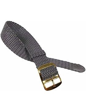 Eichmüller Ersatzband Uhrenarmband Perlon / Textil Durchzugsband Grau 519, Stegbreite:20mm