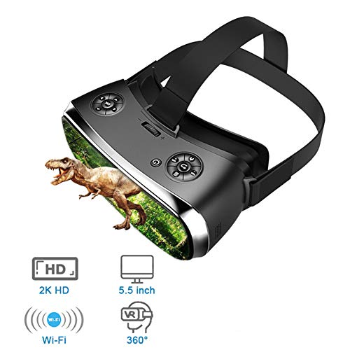 All-In-One-VR-Brille Der Virtuellen Realität, 3D-Brille Virtual PC-Brillen-Headset All-In-One-VR Für PS 4 Xbox 360 / One 2 K HDMI Nibiru Android 5.1-Bildschirm 2560 * 1440