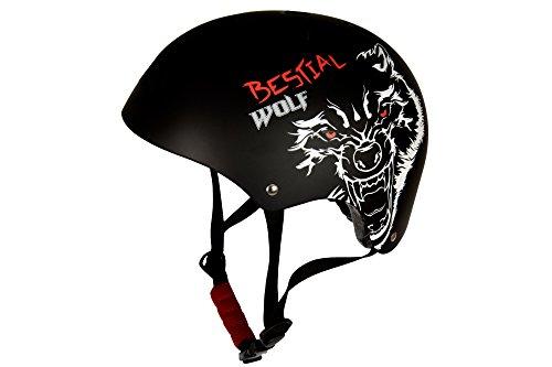 Bestial-Wolf-Blackskull-S-Casco-Patinete-Negro-Pequea
