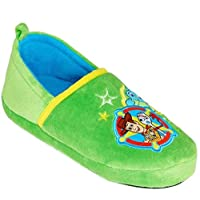 Character Collection Boys Slippers Forky Toddler Kid Slip On Comfy Warm (13/1) Green