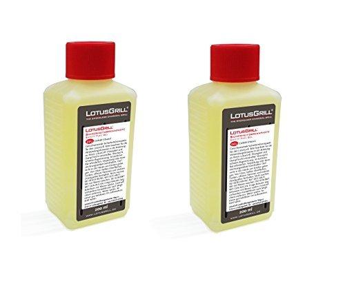 2x LotusGrill Brennpaste 200 ml! Speziell entwickelt für den raucharmen Holzkohlegrill/Tischgrill