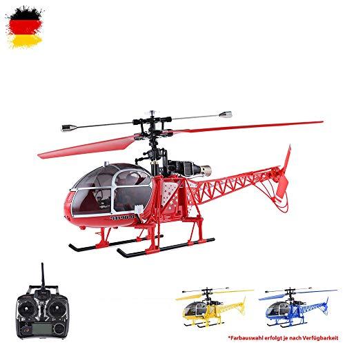 4.5 Kanal 2.4GHz RC ferngesteuerter XL Single-Blade Hubschrauber Helikopter mit 2,4GHz-Technik; UPGRADE EDITION inkl. CRASH-KIT, Fernsteuerung und Akku