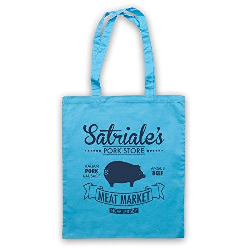 Inspiriert durch Sopranos Satriale's Pork Store Inoffiziell Umhangetaschen Hellblau