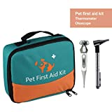Erste-Hilfe-Set für Haustiere, Tierärztliche Erste-Hilfe-Tasche für Hunde, Katzen, Kaninchen, Tiere, mit Thermometer, Otoskop, Perfekt für Häusliche Pflege und für Notfälle im Freien